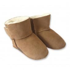 Baby pantoffel van schapenvacht | model Isa.